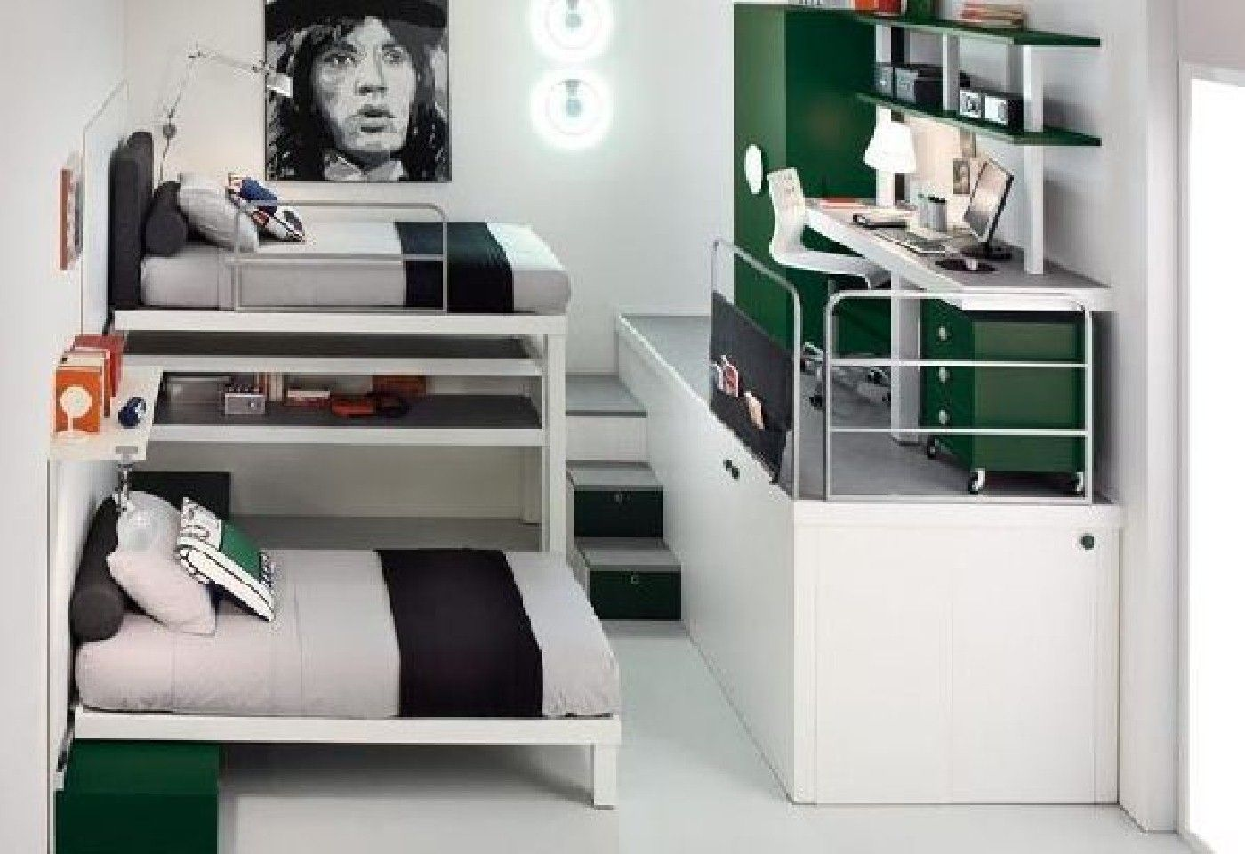 Small bedroom loft bed ideas  not the decor but the layout for Kalebus room  New Home Ideas
