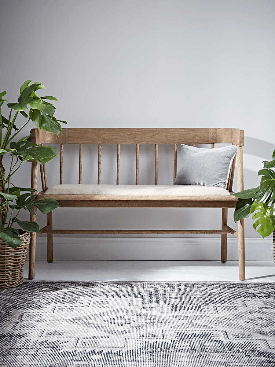 Fine Upholstered Oak Bench House Decor In 2019 Oak Bench Andrewgaddart Wooden Chair Designs For Living Room Andrewgaddartcom