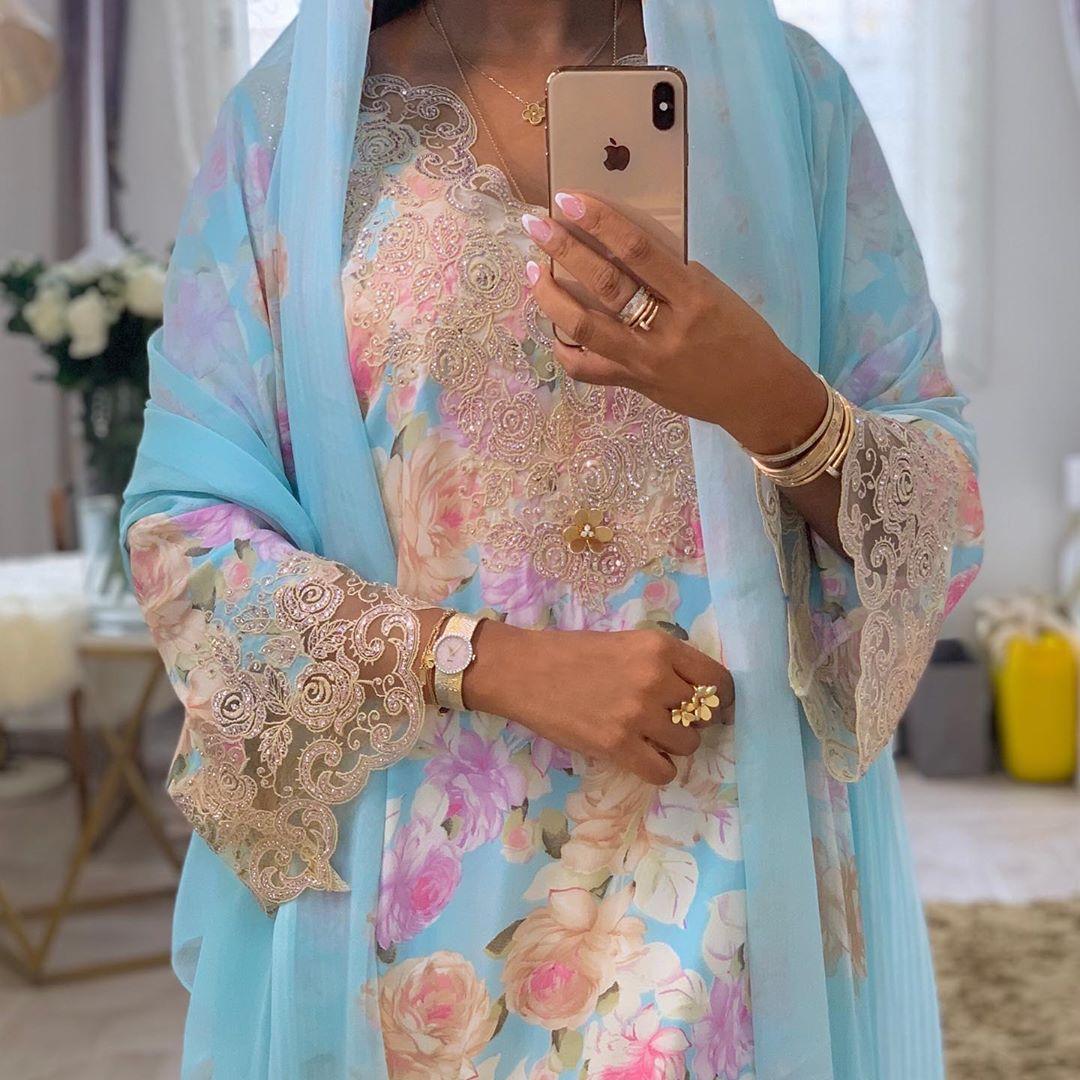 فاطمة المازمي Fatimaalmaazmi On Instagram صبااحكم سعادهه Dress Xcouture Ae Fatimaalmaazmi Arabian Dress Women Kimono Top