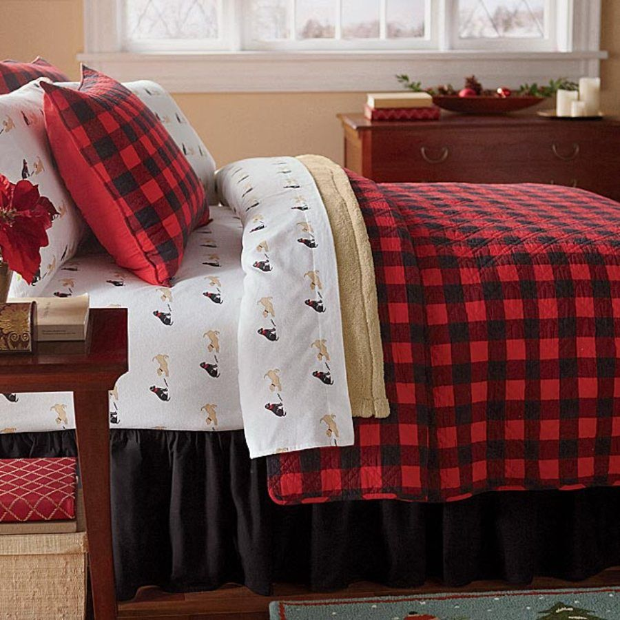 Red and brown plaid bedding - Find This Pin And More On Bedding Western Red Buffalo Plaid