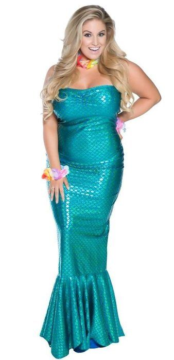Delicate Illusions Plus Size Ocean Nymph Mermaid Womens Halloween Costume 3X (18-20) Turquoise  sc 1 st  Pinterest & Delicate Illusions Plus Size Ocean Nymph Mermaid Womens Halloween ...