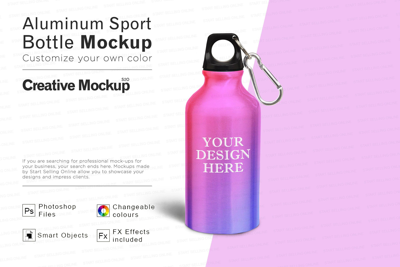 Download Aluminum Sport Bottle Mockup High Resolution Smart Objects Etsy Bottle Mockup Sport Bottle Bottle
