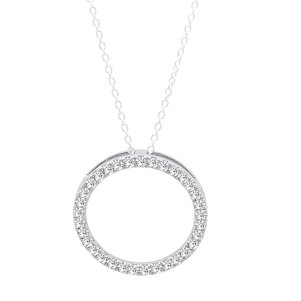 Dazzlingrock collection carat ctw k white gold round white