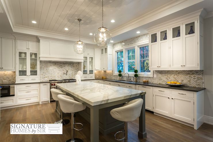 Kitchen With Tray Ceiling Transitional Kitchen Sir