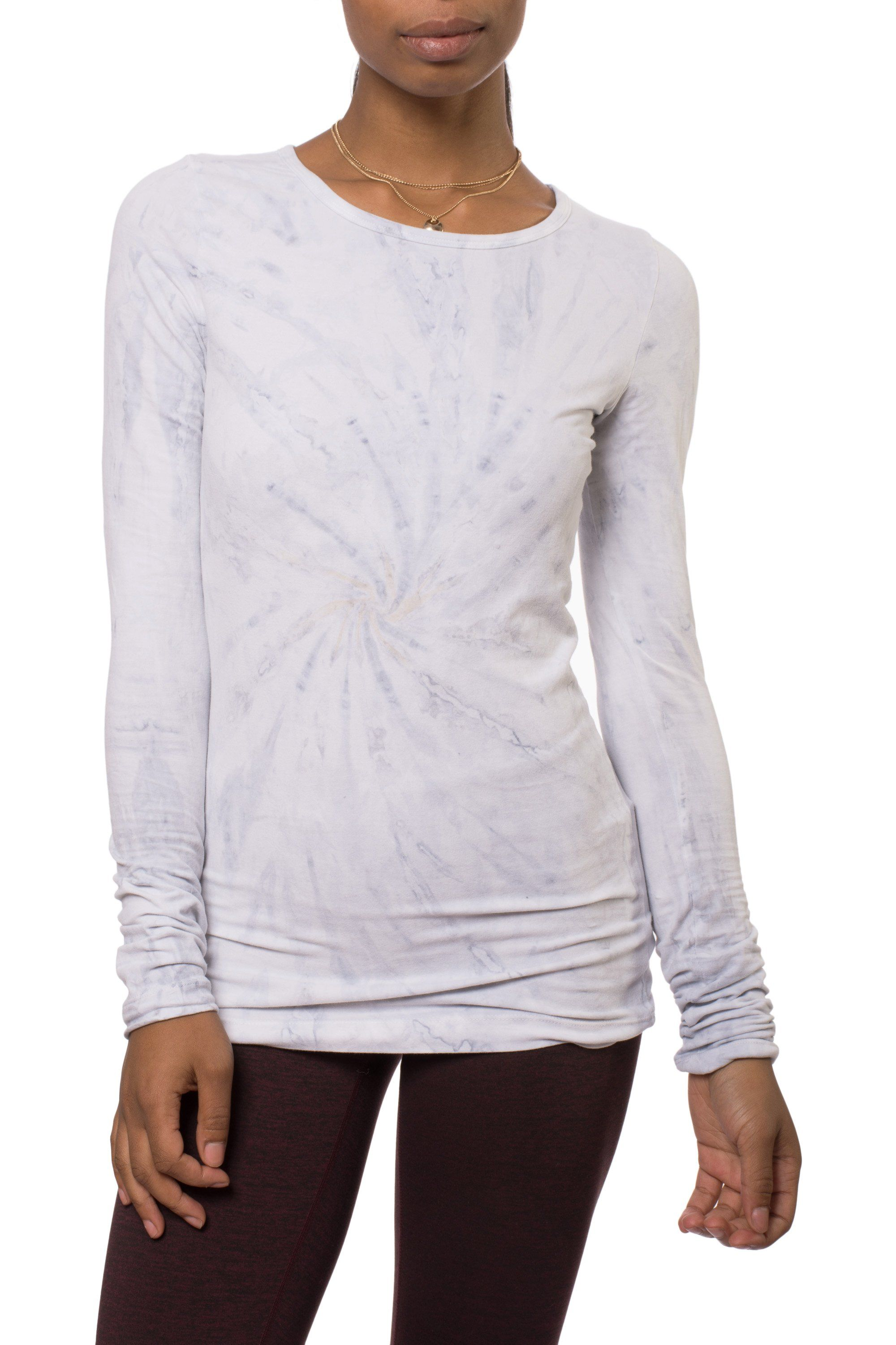 Supima/Lycra Long Sleeve Scoop Tee (Style SL-69, Tie-Dye SMA2) by Hard Tail Forever