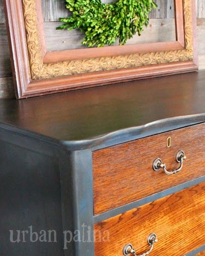 Urban Patina: Rescued Relics + Upcycled Junk: Smoky Aubusson Blue Chest of Drawers