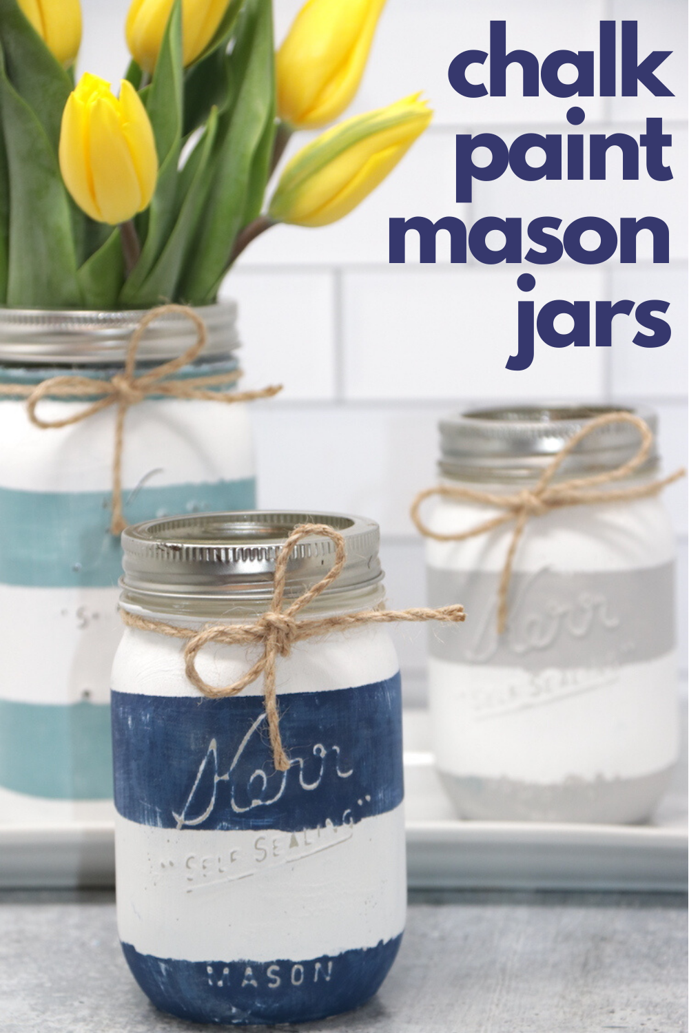 Chalk Paint Mason Jars - Thrifty and Thriving