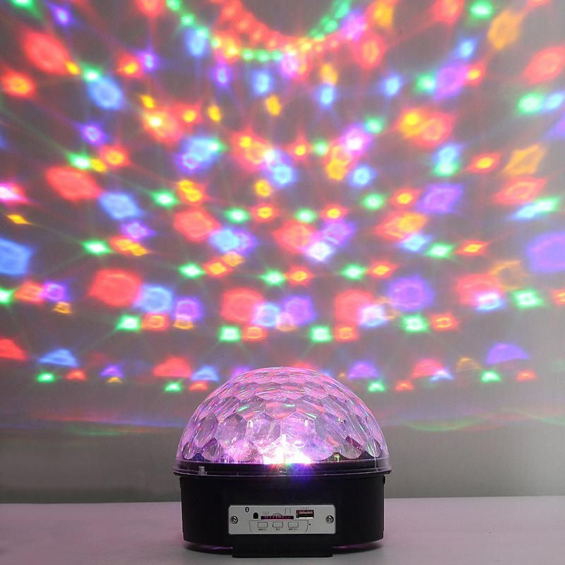 Potenco 25w 220v Music Crystal Magic Ball Rgb Led Lights Stage Lighting For Nightclub Laser Projector Disco Ball With Controller Led Stage Lights Led Lights Rgb Led Lights