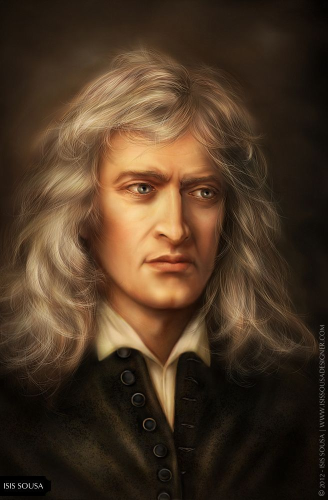 A Fantasy Portrait Of Sir Isaac Newton By Isissousa2 On Deviantart