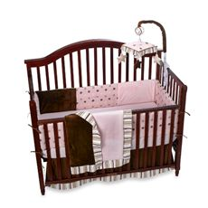 Skinny Latte 4-Piece Crib Bedding and Accessories by Bananfish®