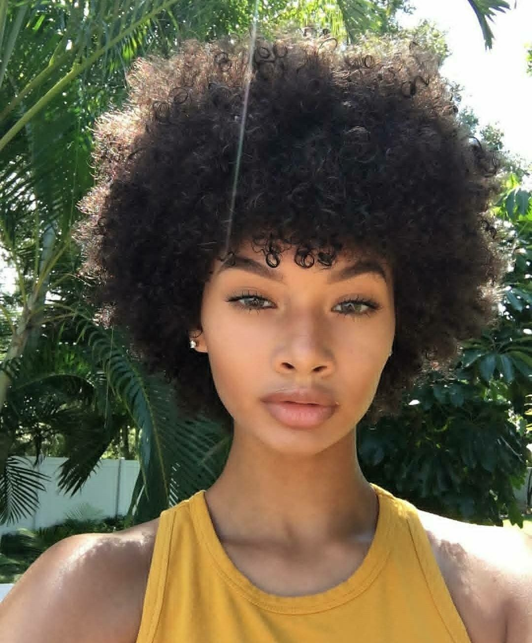 Pin by ️️ A H G ️️ on Ebony's Glory | Curly hair styles ...