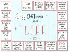 Its a girl thing super cute family christmas letter christmas card idea game of life board pronofoot35fo Images