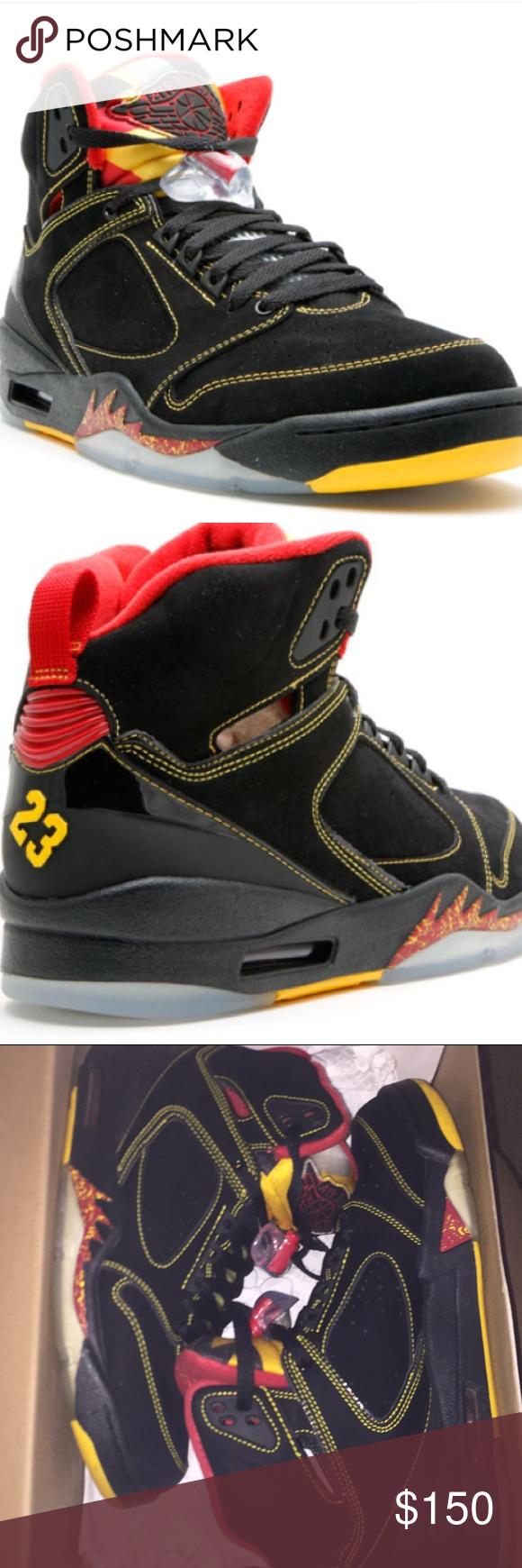 06b1f67e8e Air Jordan Sixty Plus – Atlanta Hawks Nike Air Jordan Sixty Plus Men's  Black/Yellow/Red Sneaker Sz 8- 364806-071 100% Authentic!! Very Good Used  Condition!