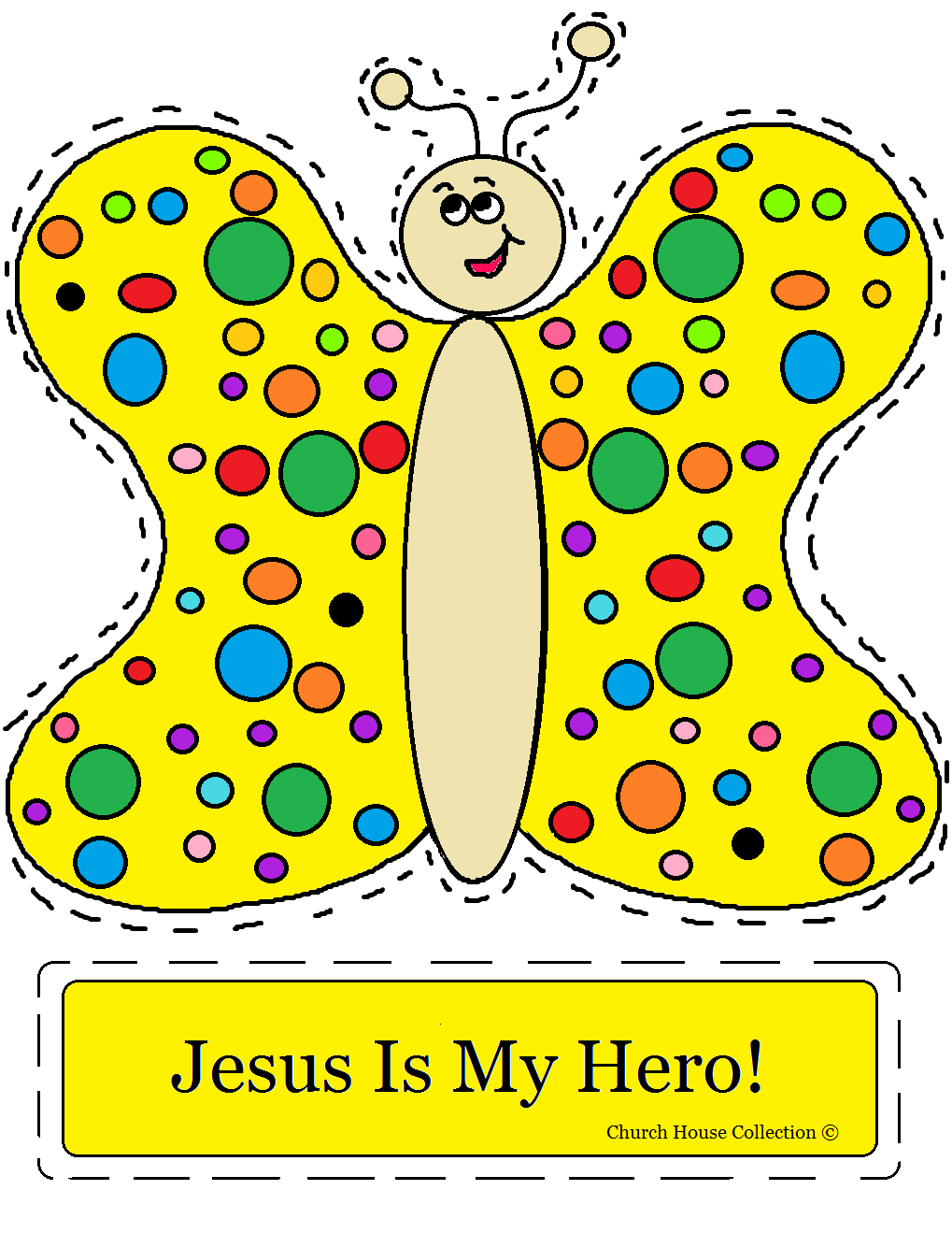 Toddler sunday school crafts - Church House Collection Blog Jesus Is My Hero Butterfly Cut Out Craft For Toddler Sunday