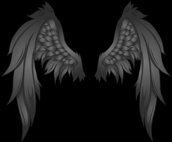 Black Wings Transparent Png Image Gambar Sayap Gambar Orang Animasi