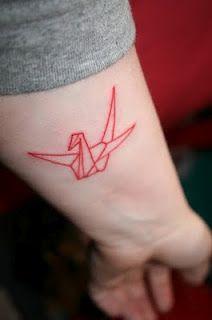 Tattoo Objects Red Ink Tattoos Red Tattoos Crane Tattoo