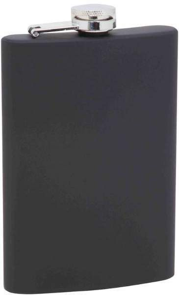 8 Oz Stainless Steel Flask- Black