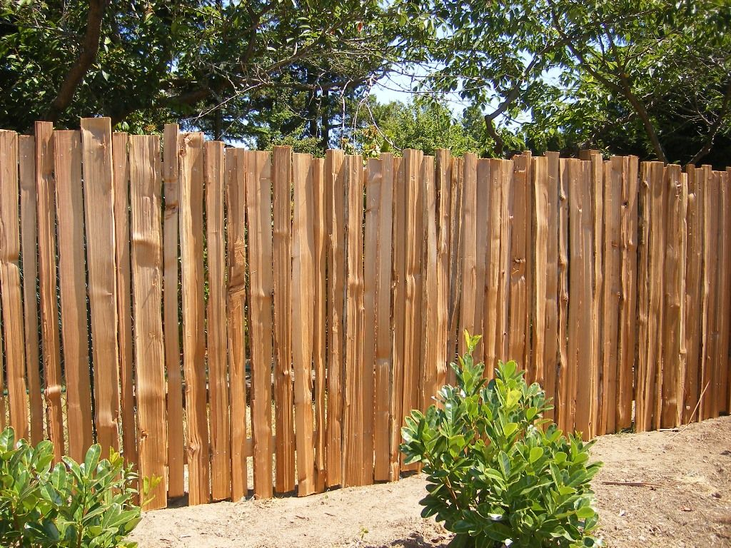 Wonderful Unique Fences Which Is Made Wood Element Without