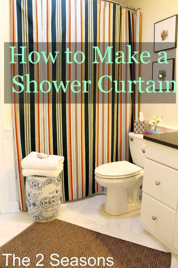 How To Make A Shower Curtain With Images Diy Shower Curtain