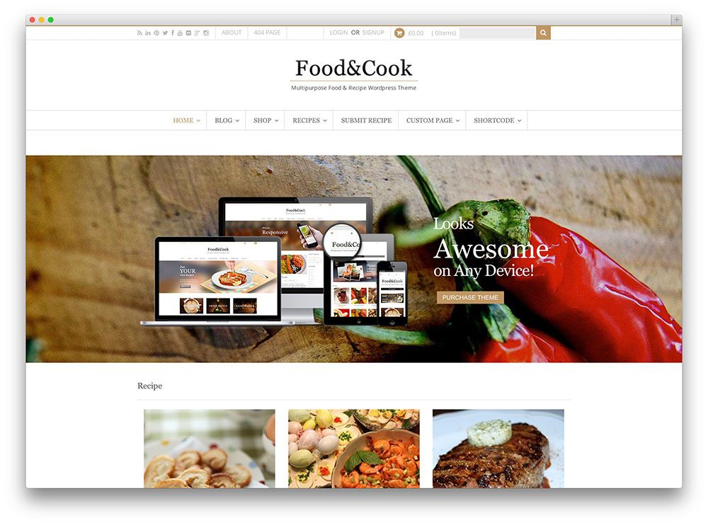 Food and cook wp theme food theme pinterest food and cook wp theme forumfinder Images