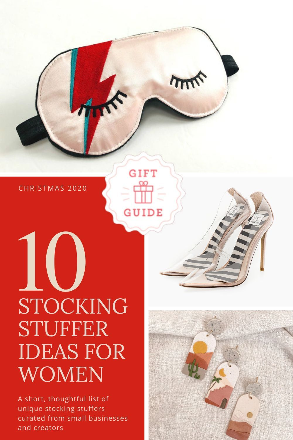 Curated from small businesses and independent makers, these unique stocking stuffer ideas for women will knock her socks off and be loved and used all year long. #Etsymakers #christmasgiftideas #stockingstuffersforwomen #stockingstuffersforwife #stockingstufferideas #uniquestockingstuffers