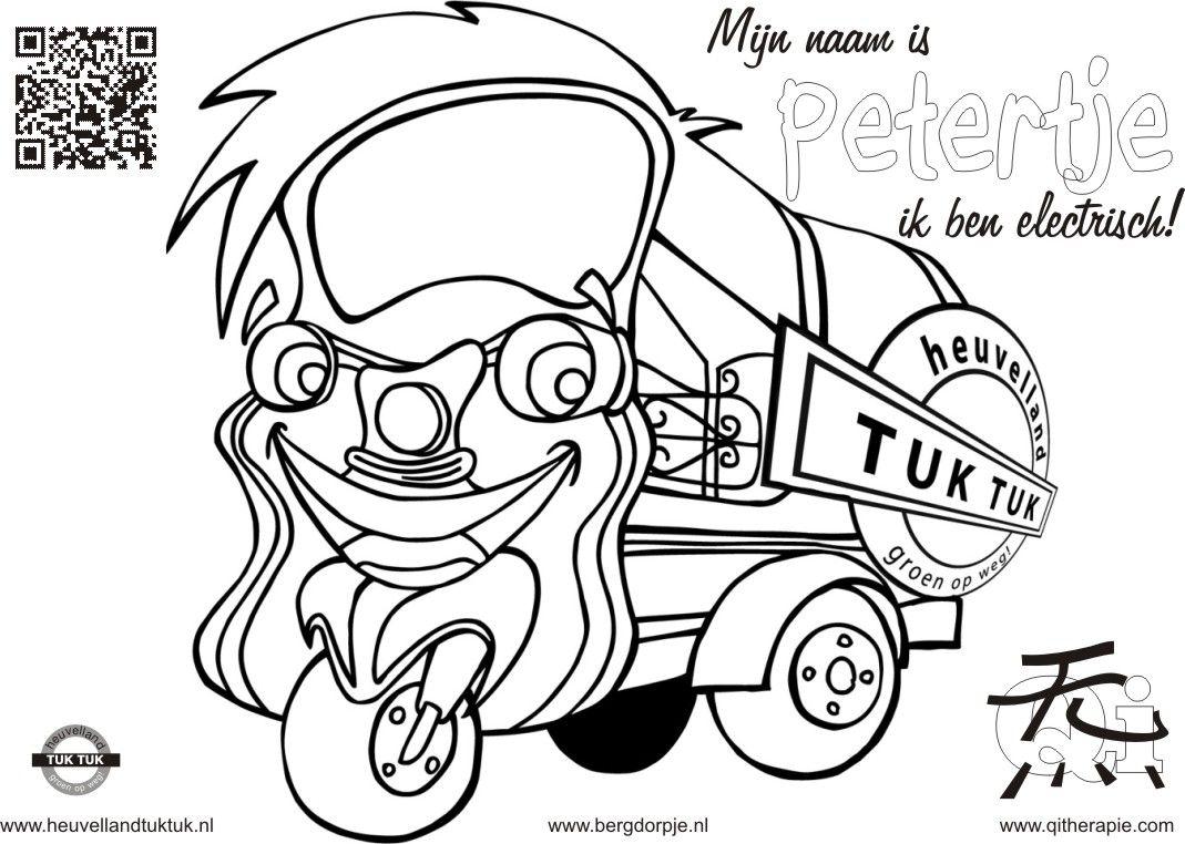 De Electrische Tuktuk Van Bergdorpje Vijlen Elke Zondag Weer Een Gratis Avontuur Check Www Bergdorpje Nl Voor Meer Ins En Outs Kleurplaten Creativiteit