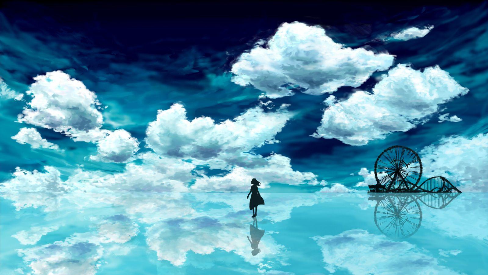 Anime tr n thi n ng t m v i google c pinterest - Beautiful anime wallpaper hd ...