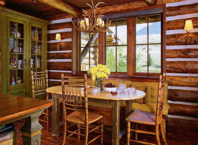 Pin On Dining Rooms, Mountain Lodge Dining Room Furniture