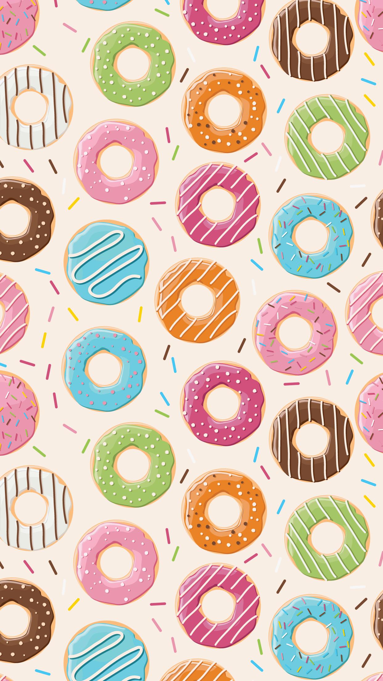Donut Wallpaper Wallpaper fofinho