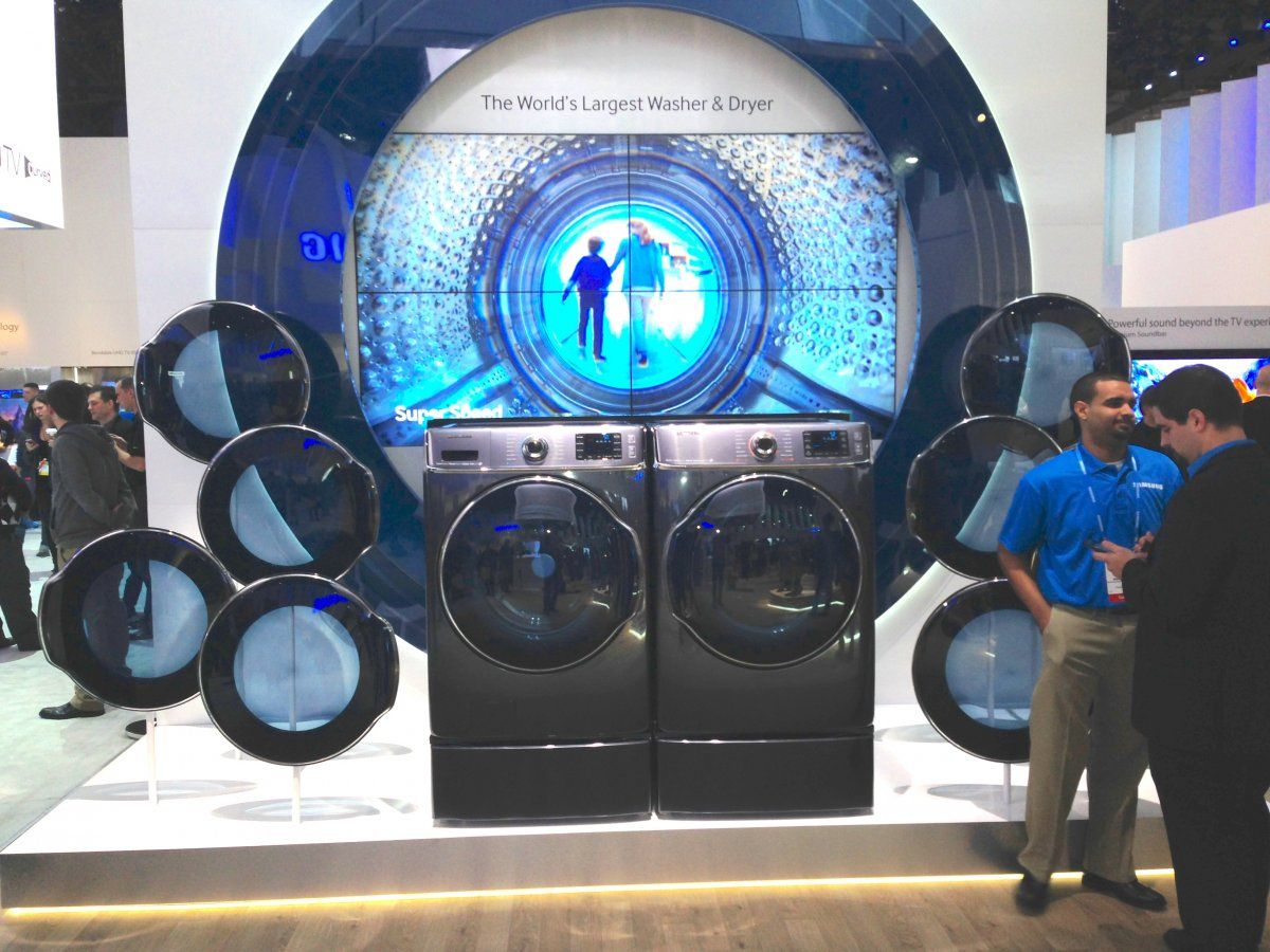Samsung Washing Machines On Display At Exhibition Washing