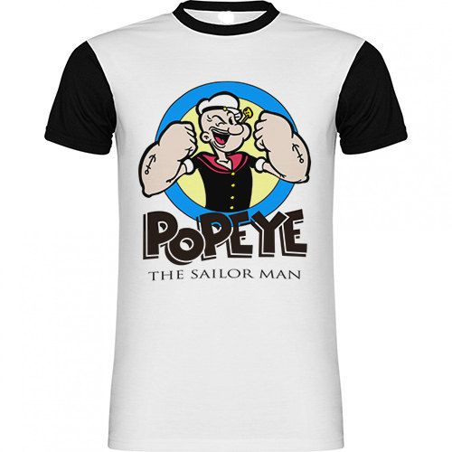 Camiseta Vintage Popeye The Sailor En Sublimacion de SportShirtFactory en Etsy