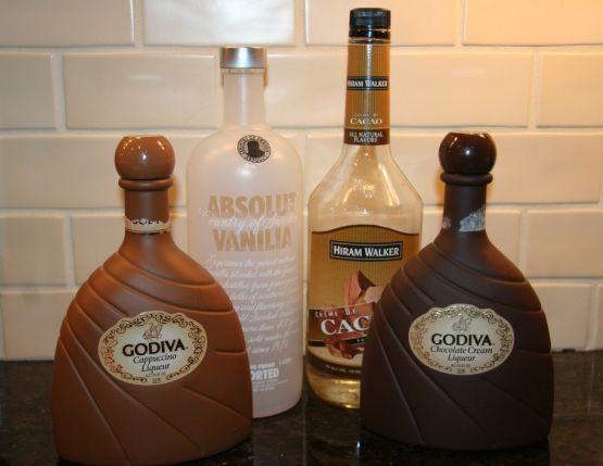 hersheys kiss 3 parts vanilla vodka 4 parts Godiva's ...