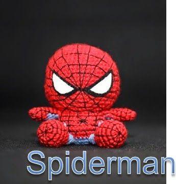 PATRÓN SPIDERMAN KAWAII Material necessario: - Lana o hilo rojo ...