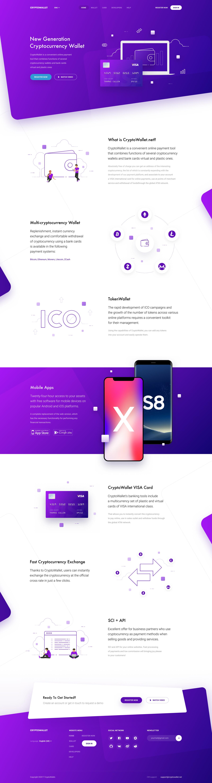 Ico Token Wallet Crypto Currency Website Design Inspiration 2018 Web Design Website Design Inspiration Web Development Design