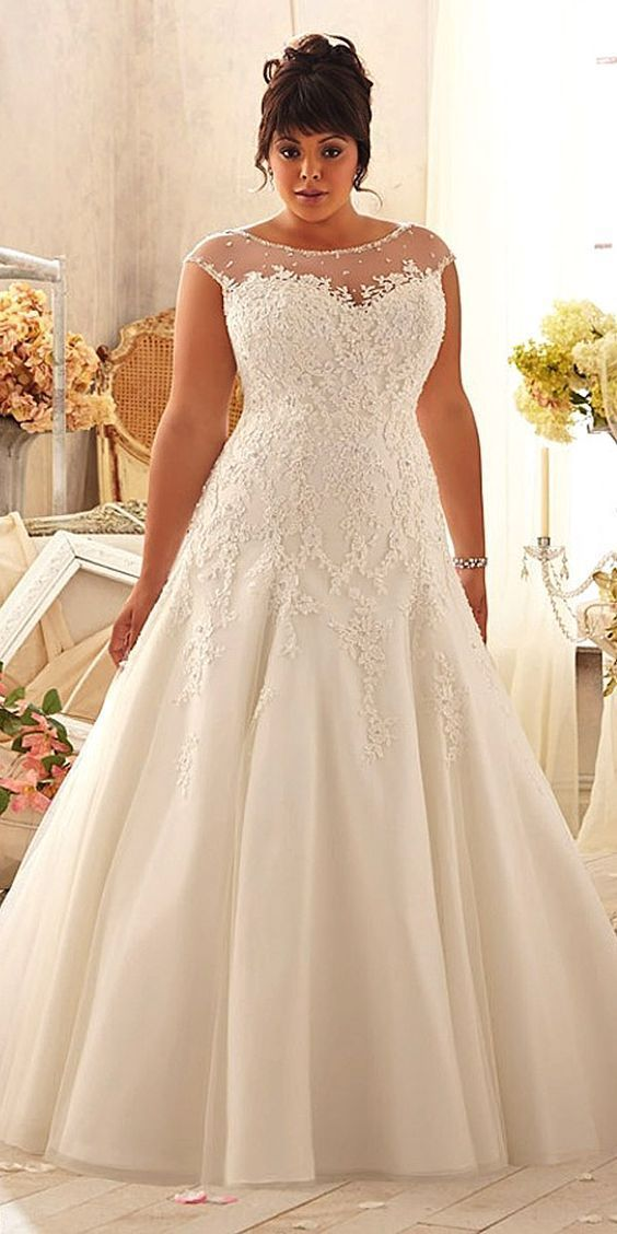 We have selected beautiful plus-size wedding dresses. These dresses ...