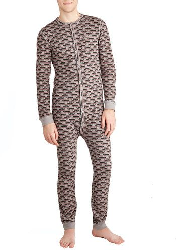 35336e485c Funny oldskool mustache pajamas (with button butt flap...)