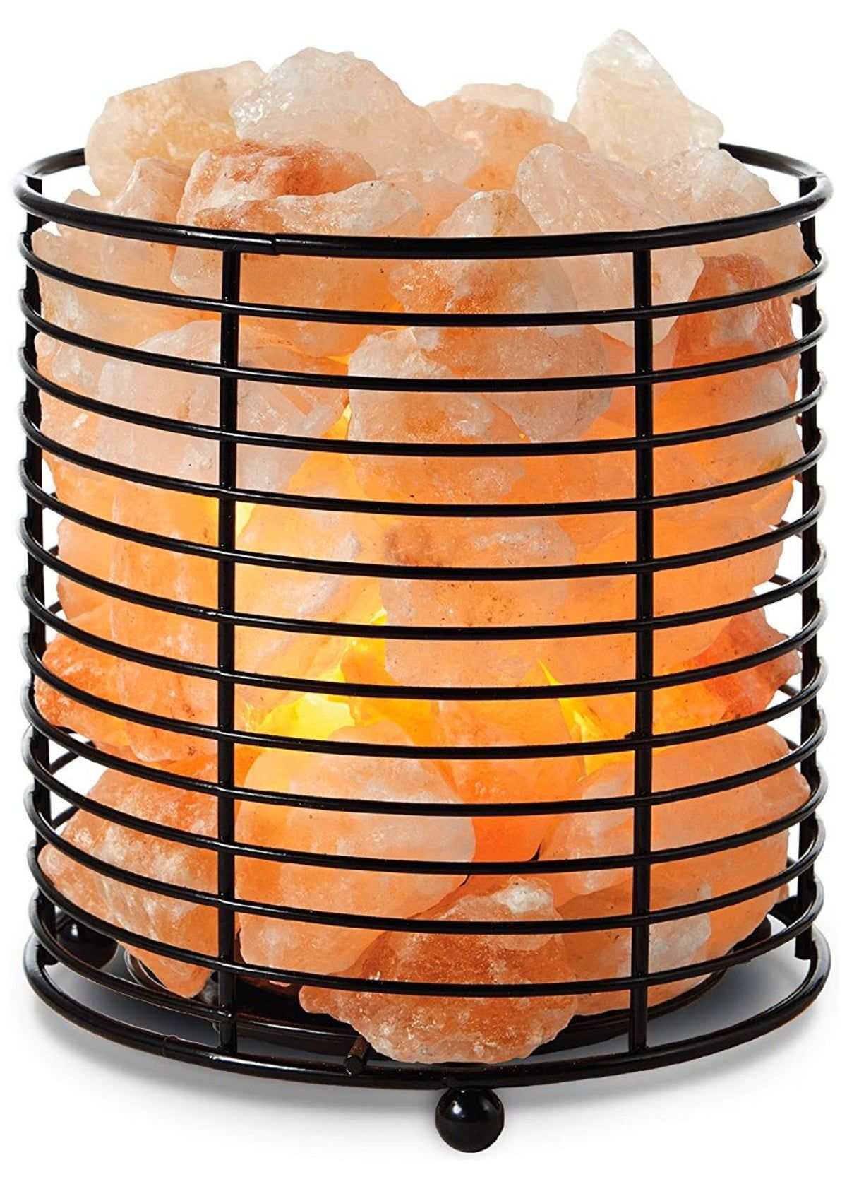 Himalayan Salt Crystal Lamp W Metal Bask In 2020 Salt Crystal Lamps Himalayan Salt Lamp Salt Lamp