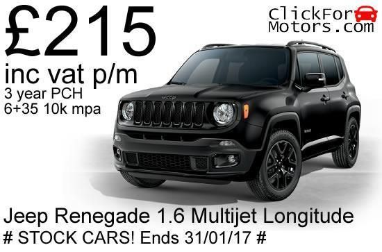 Personal Lease Jeep Renegade 1 6 Multijet Ii Longitude 5dr