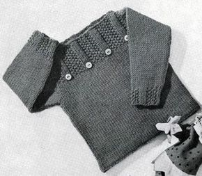 Pullover knitting pattern from Lacey's Speed Knits for Tiny Tots, originally published by T.M. Lacey, Volume 31....free pattern and many other cute free patterns.
