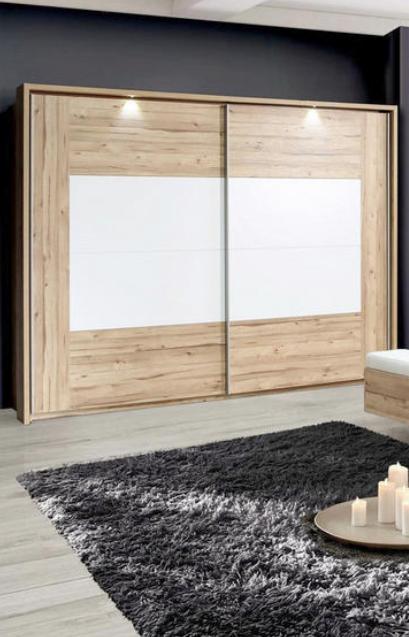Schwebeturenschrank In Weiss Eichefarben Online Kaufen Xxxlutz Schlafzimmer Schrank Schwebeturenschrank Kleiderschrank Schiebeturen