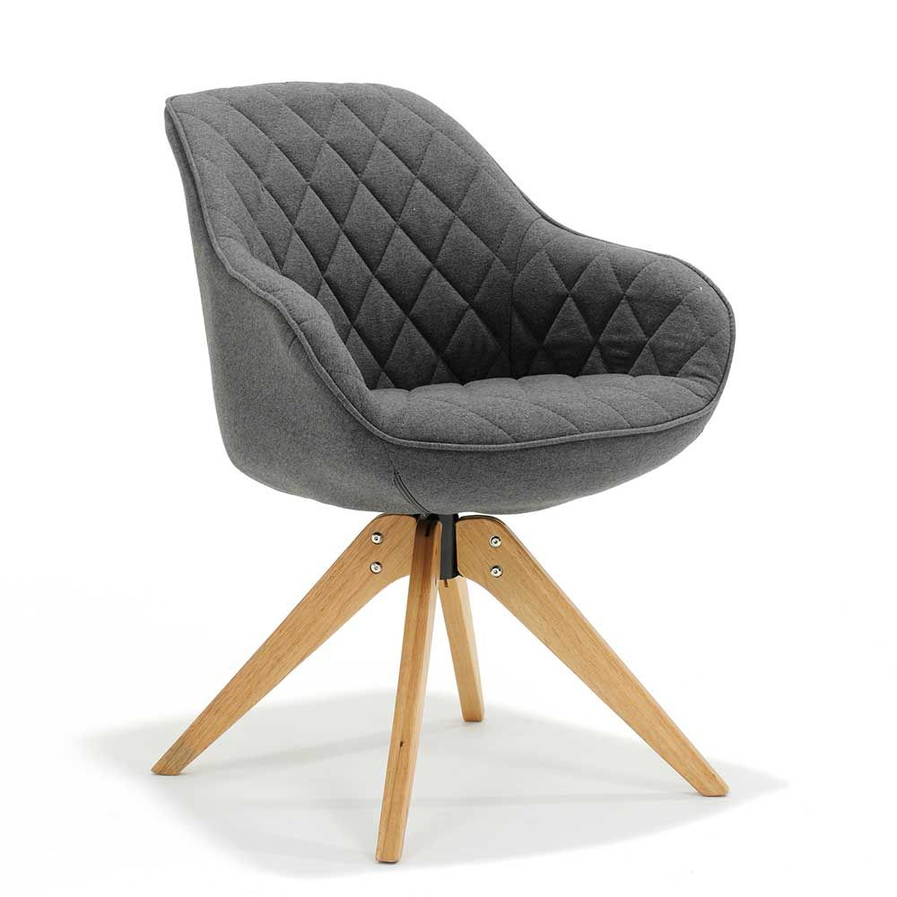 Erstaunlich Armlehnstuhl Grau Dekoration Von In Webstoff Buche Massivholz Jetzt Bestellen Unter: