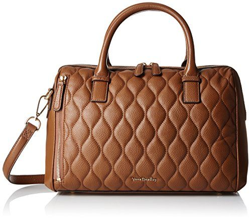 Vera Bradley Quilted Marlo Satchel, Cognac * Be sure to check out this awesome product.