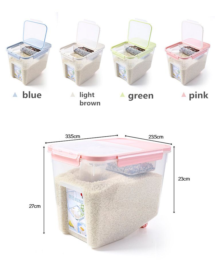 Hipsteen 1pcs 10kg Large Capacity Kitchen Food Storage Boxes Bean Rice Grain Storage Container Organiz Grain Storage Food Storage Large Food Storage Containers
