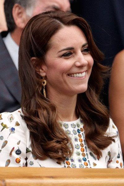 Catherine, Duchess of Cambridge attends the Men's Final of the Wimbledon Tennis Championships between Milos Raonic and Andy Murray at Wimbledon on July 10, 2016 in London