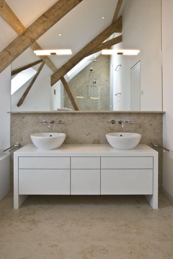 Naturstein im Badezimmer Splish splash, Industrial style and