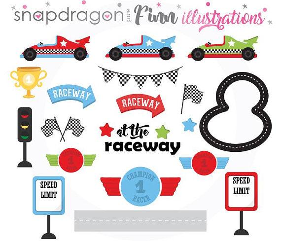 Buy5get5 Racing Clipart Race Car Clipart Race Car Driver Etsy Clip Art Digital Paper Art Set