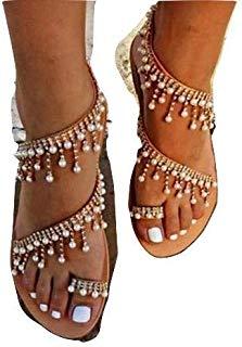 : ladies sandals Prime Eligible | Bohemian style
