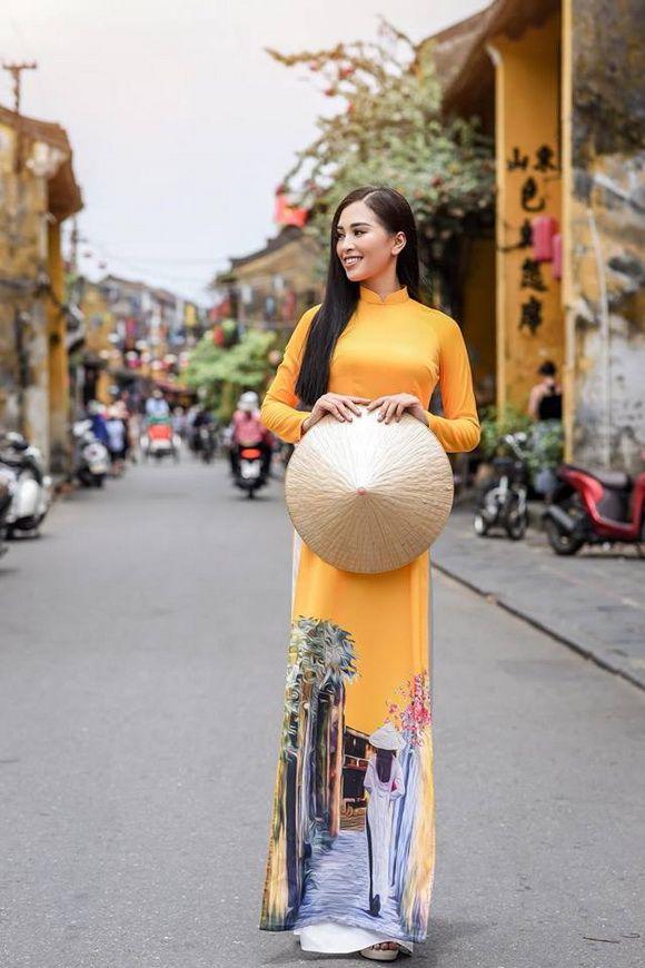 Pin by Alice on Beautyful woman long dress Vietnam