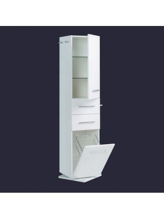 Quadro Deluxe Revolving Tallboy With Mirror Tallboys Bathroom