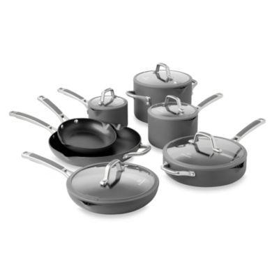 Simply Calphalon Nonstick Cookware Set 12 Piece Walmart Com Nonstick Cookware Nonstick Cookware Sets Cookware Set